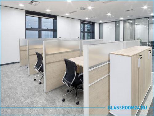 Офисные рабочие зоны для сотрудников офиса