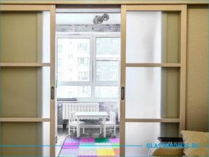 Раздвижная перегородка между комнатами